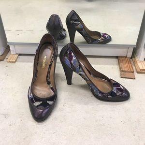 Missoni velvet heels